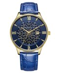 Bromwick Tower Blue Leather Watch Horlogewatch.nl