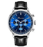 Bonvier Milano Blue Silver Chronograaf Horlogewatch.nl