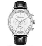 Bonvier Milano White Silver Chronograaf Horlogewatch.nl