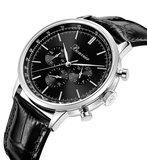 Bonvier Milano Black Silver Watch 41 mm Horlogewatch.nl
