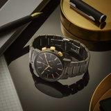 Tayroc Meridian Chrono Black/Gold Steel 42mm Horlogewatch.nl