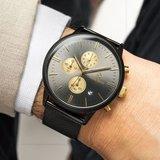 Paul Rich Mesh Chrono Black Gold Horlogewatch.nl