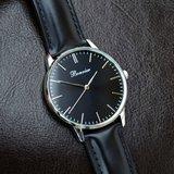 Bonvier Classic Black Silver BW014 horloge Horlogewatch.nl