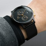 Paul Rich Cosmic Black Gold Mesh Chrono Horlogewatch.nl