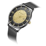 Bromwick Tower Gold Black Mesh Watch Horlogewatch.nl