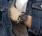 Bromwick Tower Rose Gold Black Mesh Horlogewatch.nl