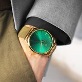 Paul Rich Hampton Green Gold Mesh Horlogewatch.nl
