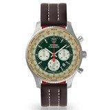 Detomaso Firenze DT1045-B-896 XXL Silver Green Horlogewatch.nl