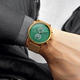 Paul Rich Aurora Cosmic Green Gold Mesh Horlogewatch.nl
