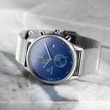 Paul Rich Orion Cosmic Blue Silver Mesh Horlogewatch.nl