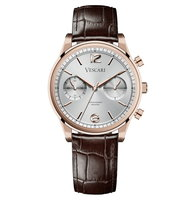 Vescari Chestor Rosegold Silver - Brown Croco