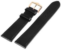 Horlogeband Zwart / Goud 20 mm