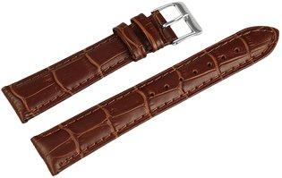 Horlogeband Bruin / Zilver 18 mm
