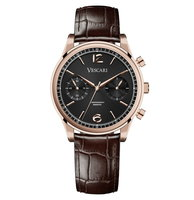 Vescari Chestor Rosegold Black - Brown Croco