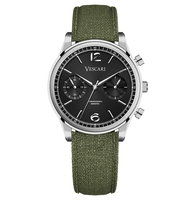 Vescari Chestor Steel Black - Green Canvas