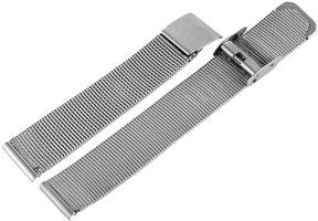 Horlogeband Mesh Zilver 18mm