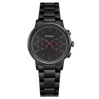 Tayroc Meridian Chrono Black/Red Steel - 42mm