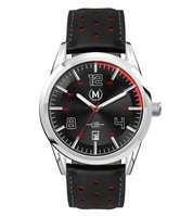 Marchand Sportline Black And Red Strap