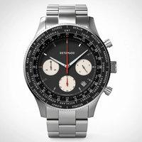 Detomaso Firenze Chronograph Black Steel Silver D08-04-23