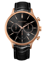 Maestro Watch Black & Rose Gold - The Executive Chrono