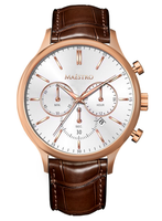 Maestro Watch Brown & Rose Gold - The Executive Chrono