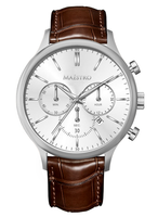 Maestro Watch Brown & Silver - The Executive Chrono