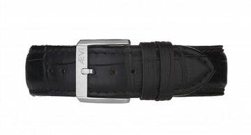 Aevi Classic Black Crocodile Horlogeband