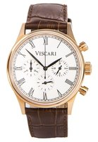 Vescari Watch Heritage Chronograph Rose Gold / White