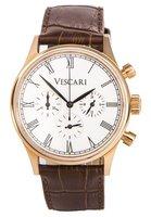 Vescari Watch Heritage Chronograph Rose Gold / White