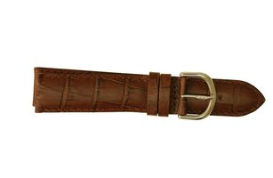 Horlogeband B0214 Davis Bruin 20 mm