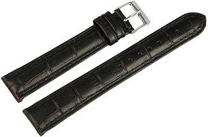 Horlogeband Zwart / Zilver 18 mm