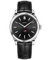 Maen Watch Manhattan 40 Moonphase - Jet Black