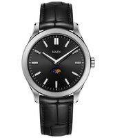 Maen Watch Manhattan 40 Moonphase Brushed - Jet Black
