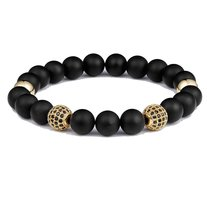 Paul Rich Gold Zircon Black Onyx Bracelet