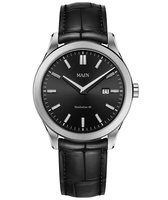 Maen Watch Manhattan 40 Date Brushed - Jet Black