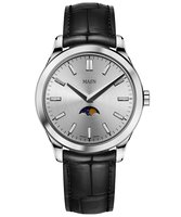 Maen Watch Manhattan 40 Moonphase Polished - Ice Grey Limited Edition