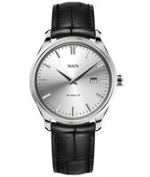 Maen Watch Brooklyn 39 Date - Ice Grey