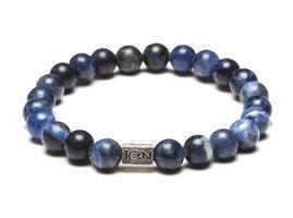 TCKN Bedel Armband Natuurstenen Kralen Blauw