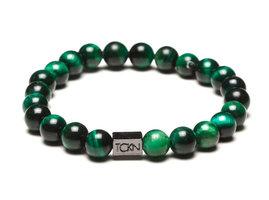 TCKN Bedel Armband Natuurstenen Kralen Groen