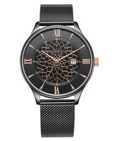 Bromwick Tower Rose Gold / Black Mesh