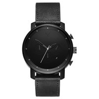 MVMT Chrono Black Leather 45mm D-MC01BL