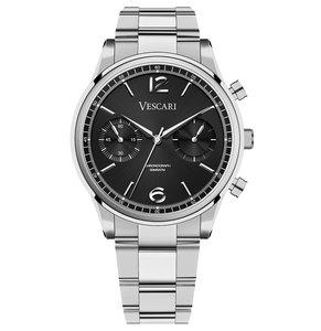 Vescari Chestor Steel Black - Steel Bracelet Horlogewatch.nl