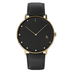 Sandell Bright Night Black Leather Horlogewatch.nl