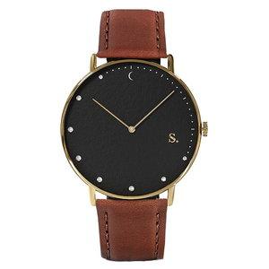 Sandell Bright Night Brown Leather Horlogewatch.nl
