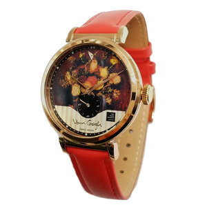 Van Gogh Swiss Watch C-RLLV-19 Vaas Chinese Asters Tuingladiolen Horlogewatch.nl