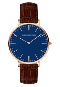 Chris Copenhagen CC1011 Axel Torv rosegoud blauw Horlogewatch.nl