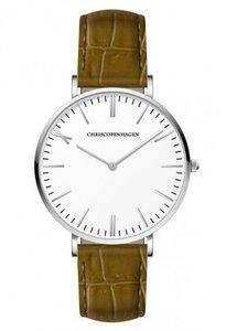 Chris Copenhagen CC1005 Rundetarn wit lichtbruin Horlogewatch.nl