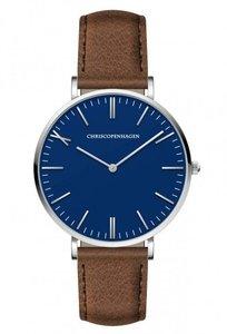 Chris Copenhagen CC1006 Rosenborg Slot blauw bruin Horlogewatch.nl
