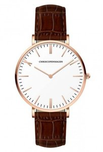 Chris Copenhagen CC1010 Trianglen Rosegoud Wit Horlogewatch.nl