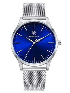Paul Rich Hampton Blue Silver Mesh Horlogewatch.nl
